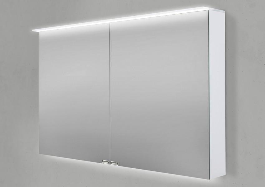 Spiegelschrank 100 cm LED Acryl Lichtplatte doppelseitig verspiegelt