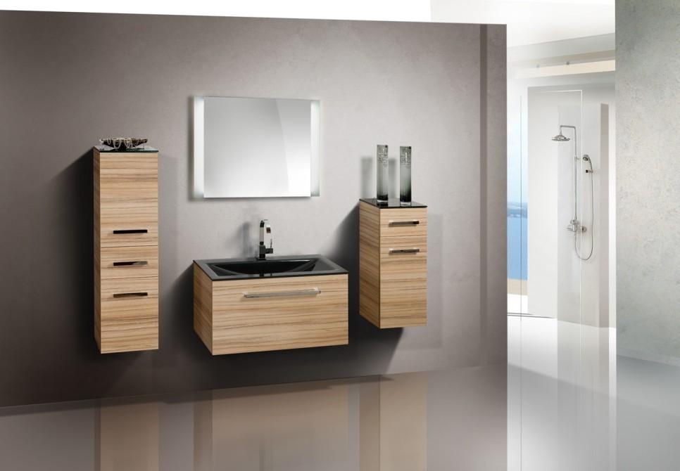 badezimmerm bel set mit glaswaschbecken 90 cm 349. Black Bedroom Furniture Sets. Home Design Ideas