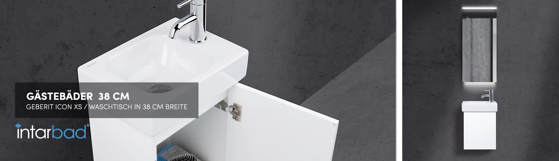38 cm Waschtisch (Geberit iCon XS)