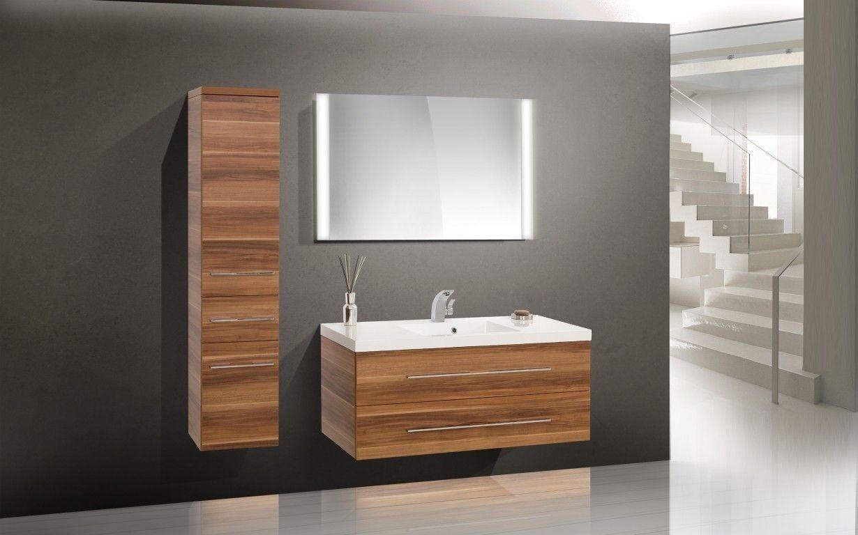Badezimmer waschtisch set  Design Badmöbel Set Waschtisch 120 cm Waschbecken | designbaeder.com