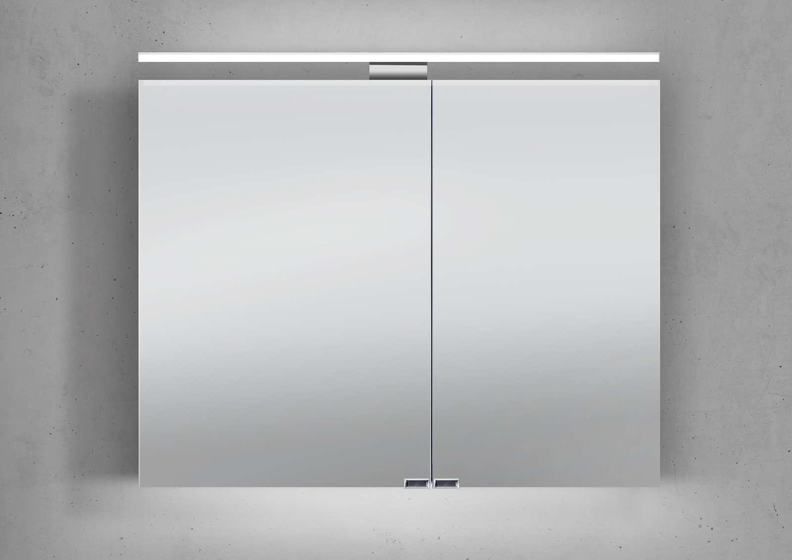 Spiegelschrank Bad Mit Beleuchtung spiegelschrank bad 90 cm led beleuchtung doppelseitig verspiegelt
