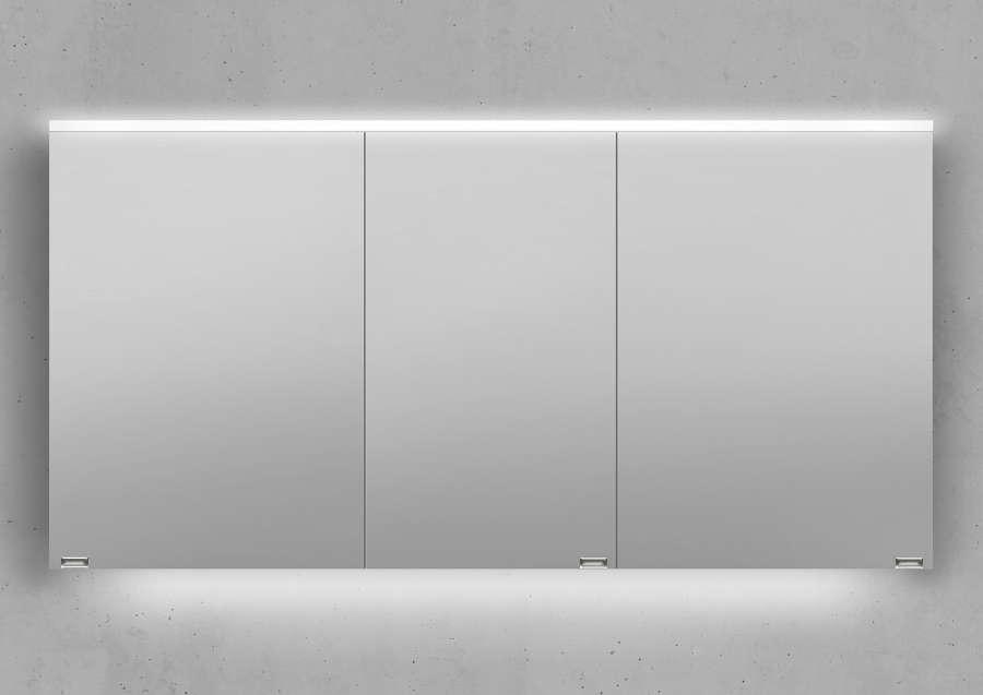 Gut Spiegelschrank 140 cm integrierte LED Beleuchtung doppelt  MD09