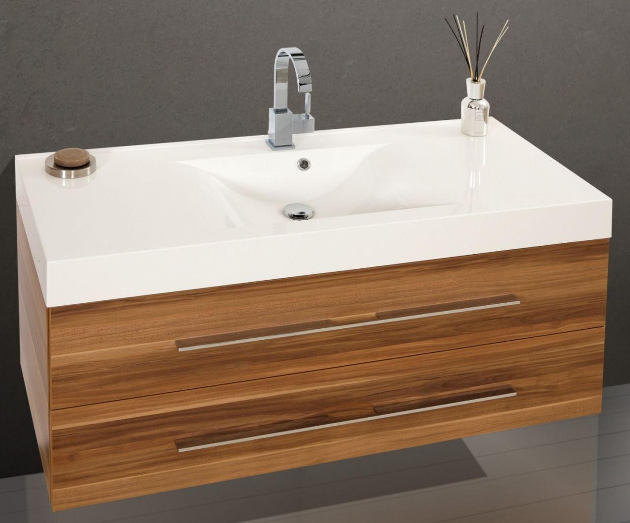 design badm bel set waschtisch 120 cm lichtspiegel nussbaum nussbaum b gelgrif ebay. Black Bedroom Furniture Sets. Home Design Ideas