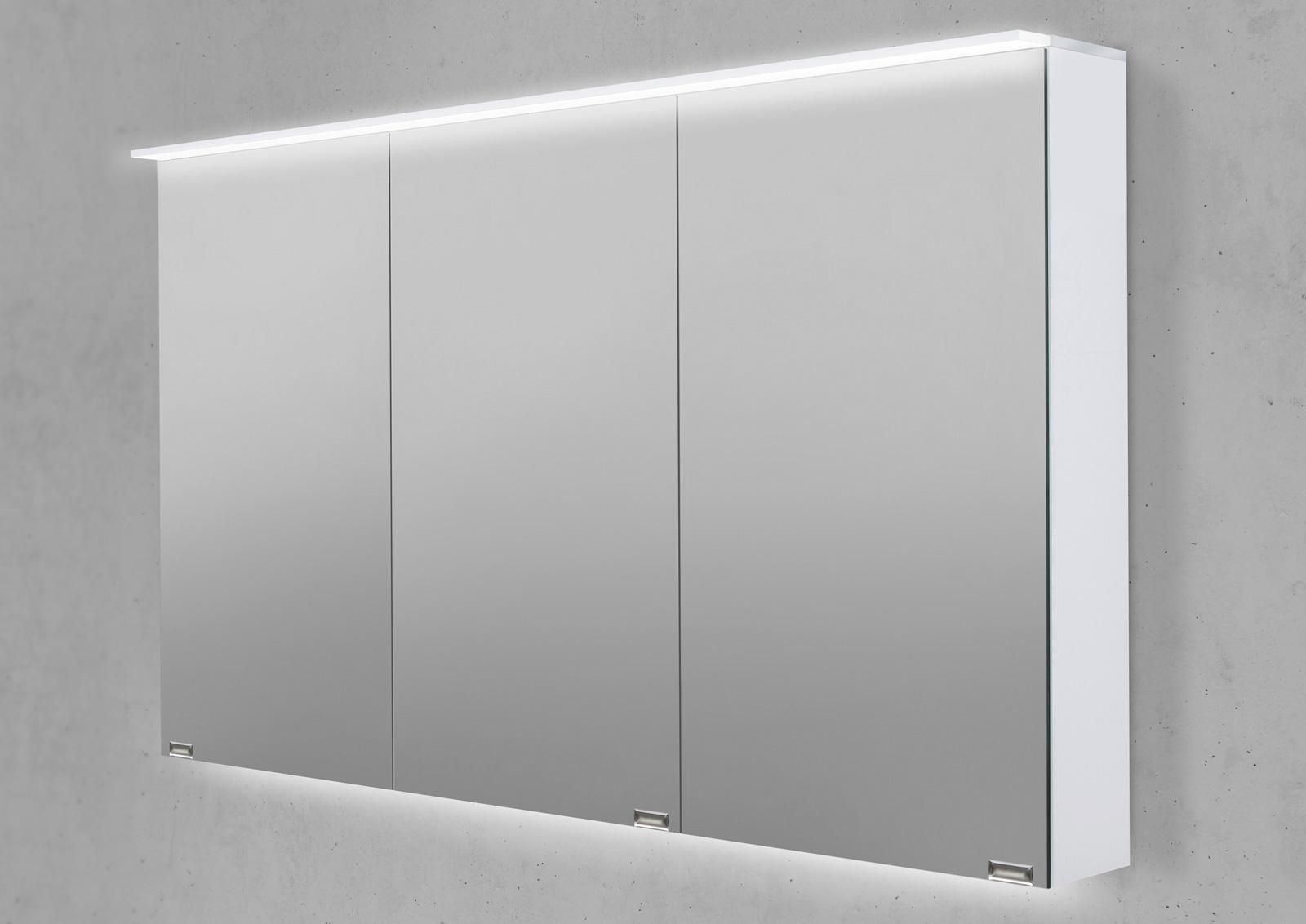 spiegelschrank 120 cm led acryl lichtplatte doppelseitig verspiegelt. Black Bedroom Furniture Sets. Home Design Ideas