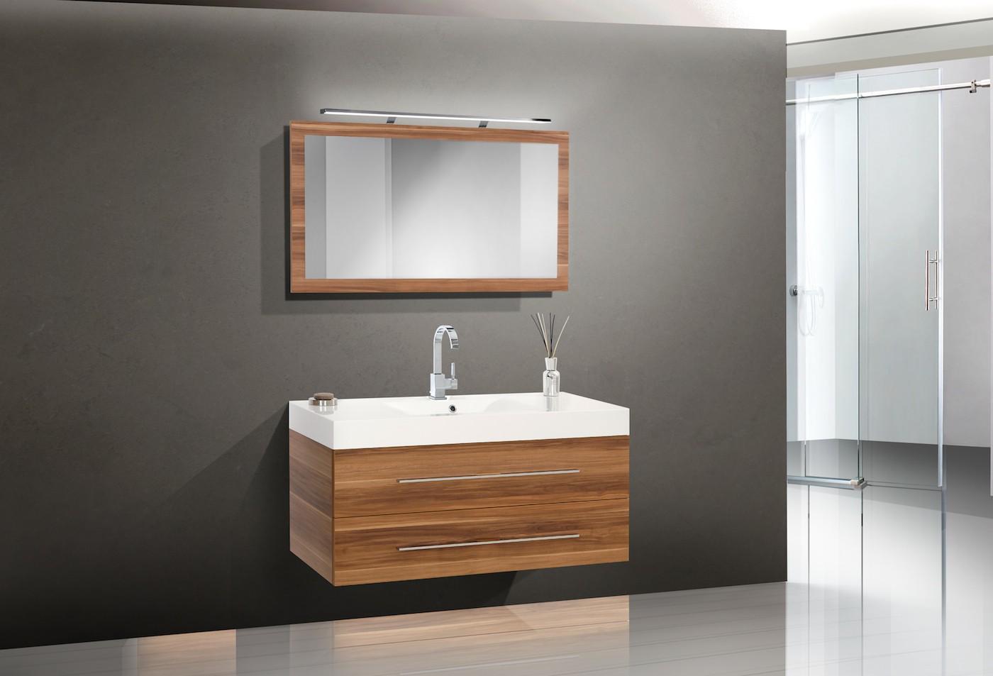 design badm bel set waschbecken 120cm lichtspiegel. Black Bedroom Furniture Sets. Home Design Ideas