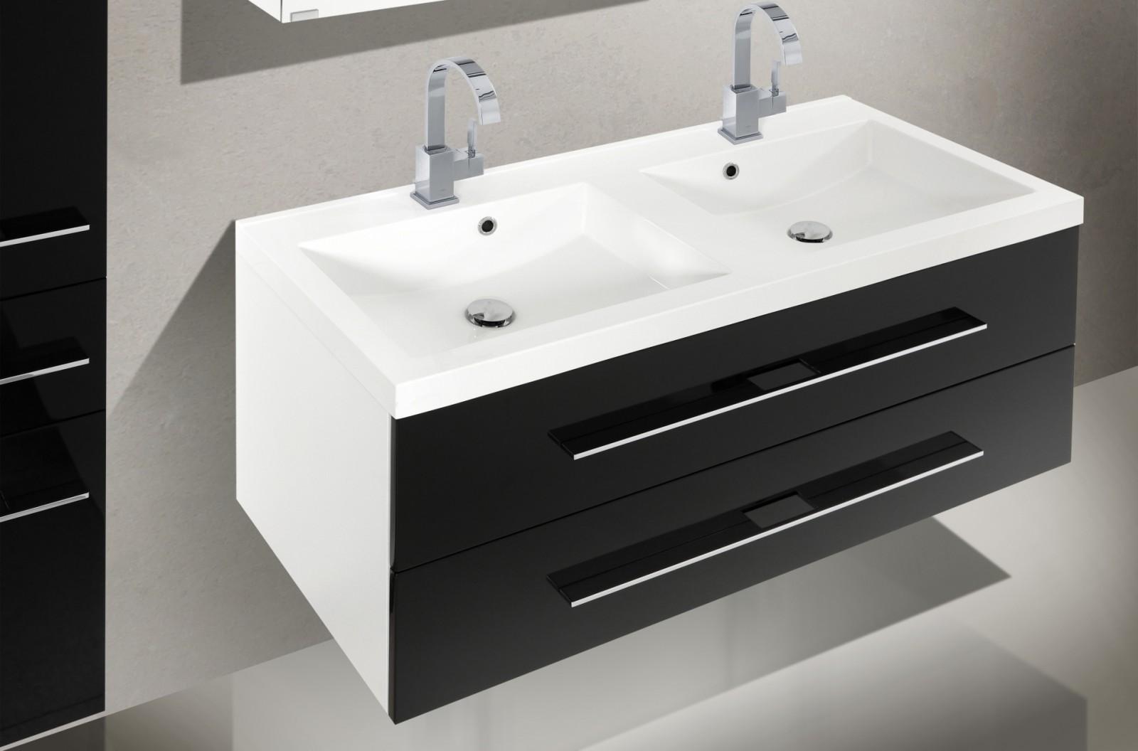 badezimmerm bel set mit waschbecken und spiegelschank 120 cm 1198. Black Bedroom Furniture Sets. Home Design Ideas