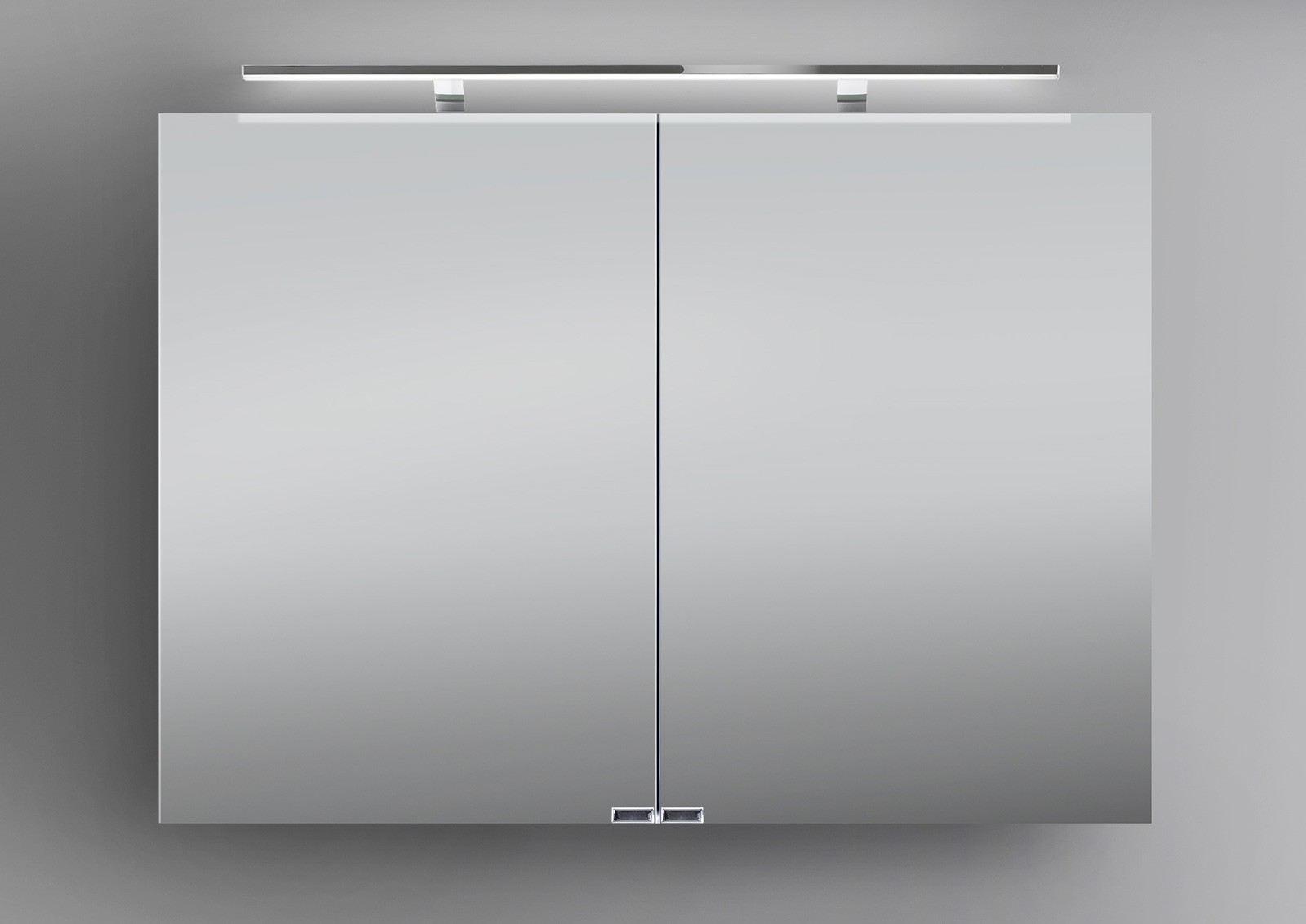 Spiegelschrank bad 100 cm led beleuchtung doppelseitig for Design spiegelschrank bad