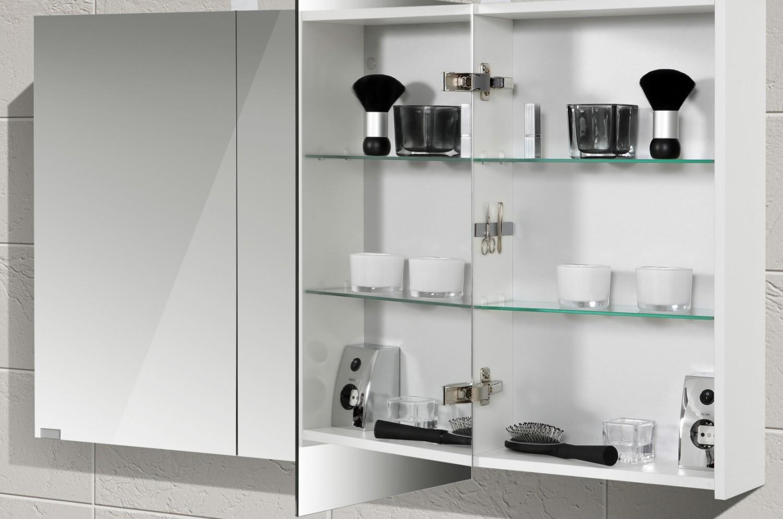 badm bel set mit spiegelschrank und doppelwaschtisch 120. Black Bedroom Furniture Sets. Home Design Ideas
