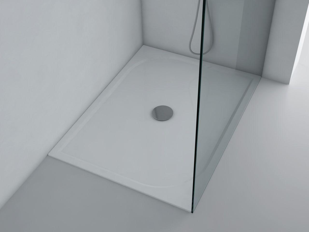 duschwanne 120x90cm andria mineralguss duschtasse flach bodengleich inkl f e u ebay. Black Bedroom Furniture Sets. Home Design Ideas