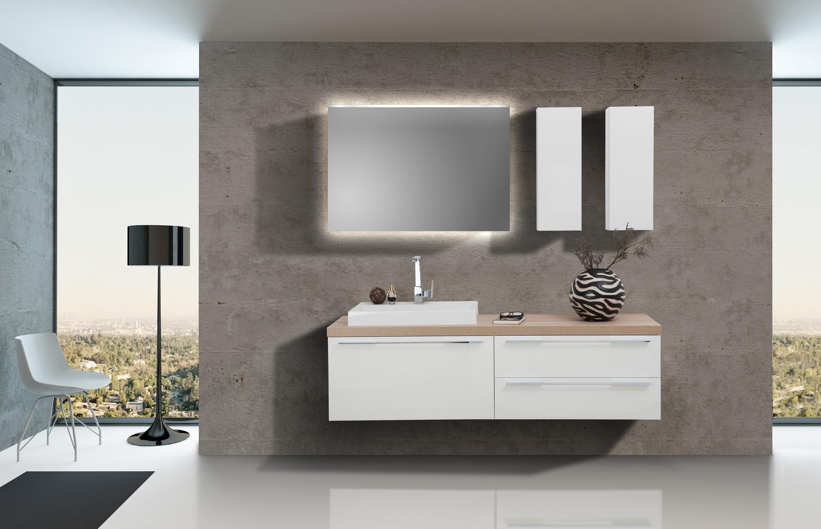 waschtischplatte mit aufsatzwaschtisch und unterschrank. Black Bedroom Furniture Sets. Home Design Ideas