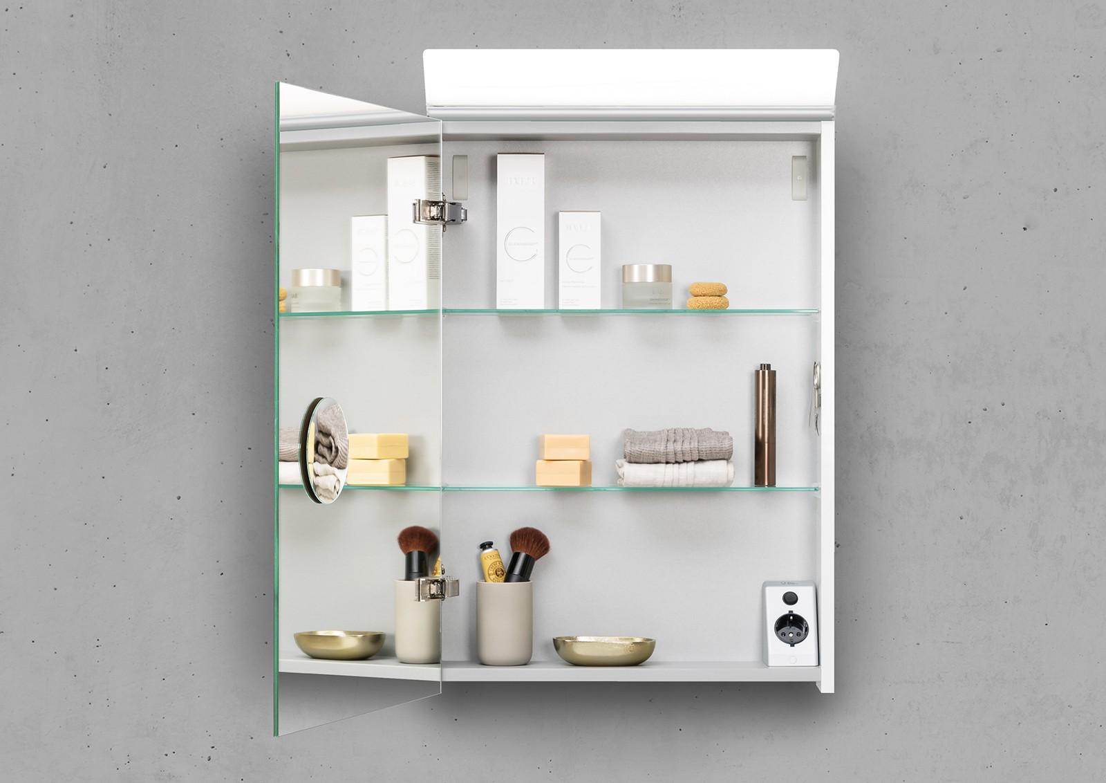 spiegelschrank 50 cm led beleuchtung doppelt verspiegelt. Black Bedroom Furniture Sets. Home Design Ideas