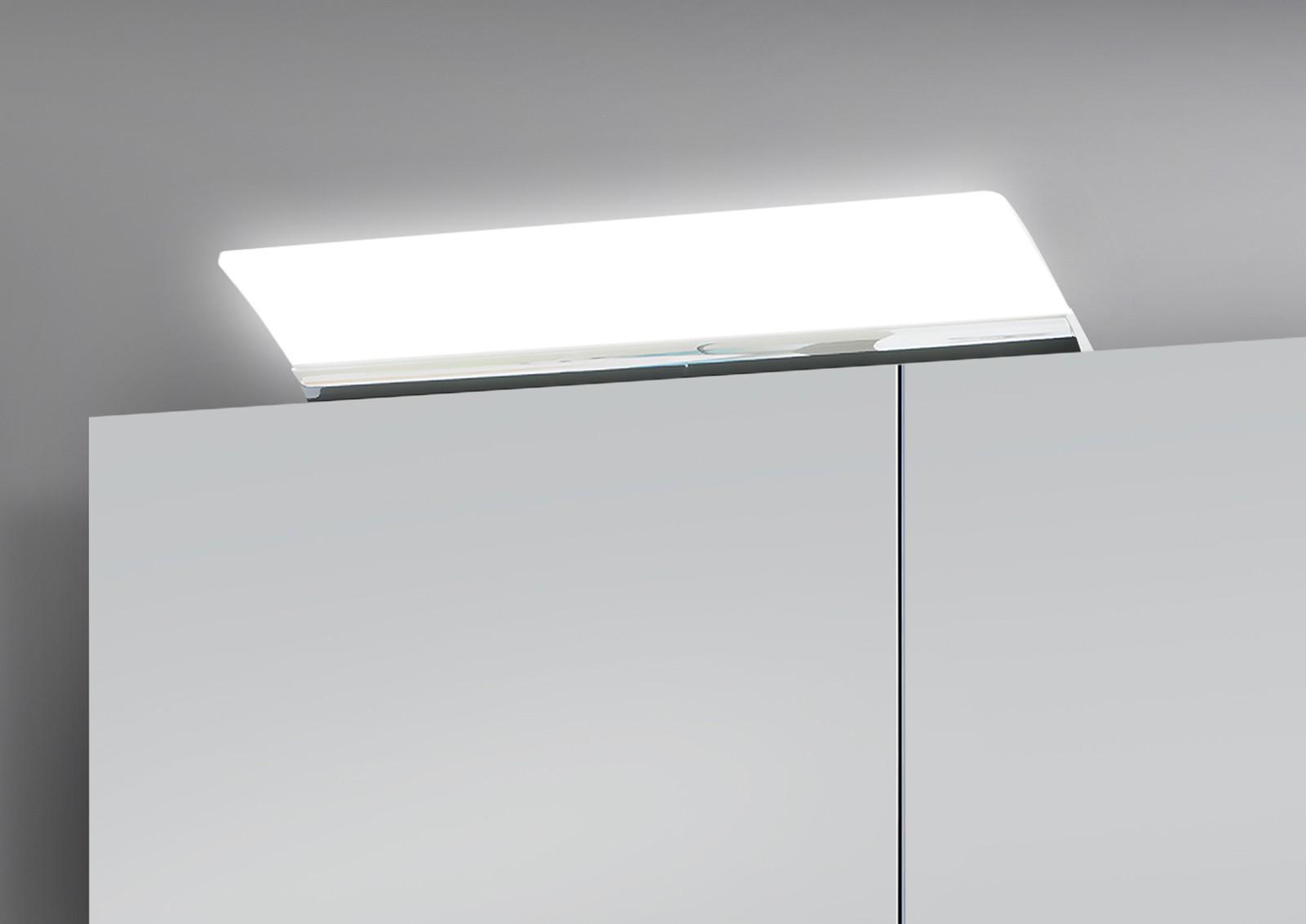 spiegelschrank bad 100 cm led beleuchtung doppelseitig verspiegelt 5200. Black Bedroom Furniture Sets. Home Design Ideas