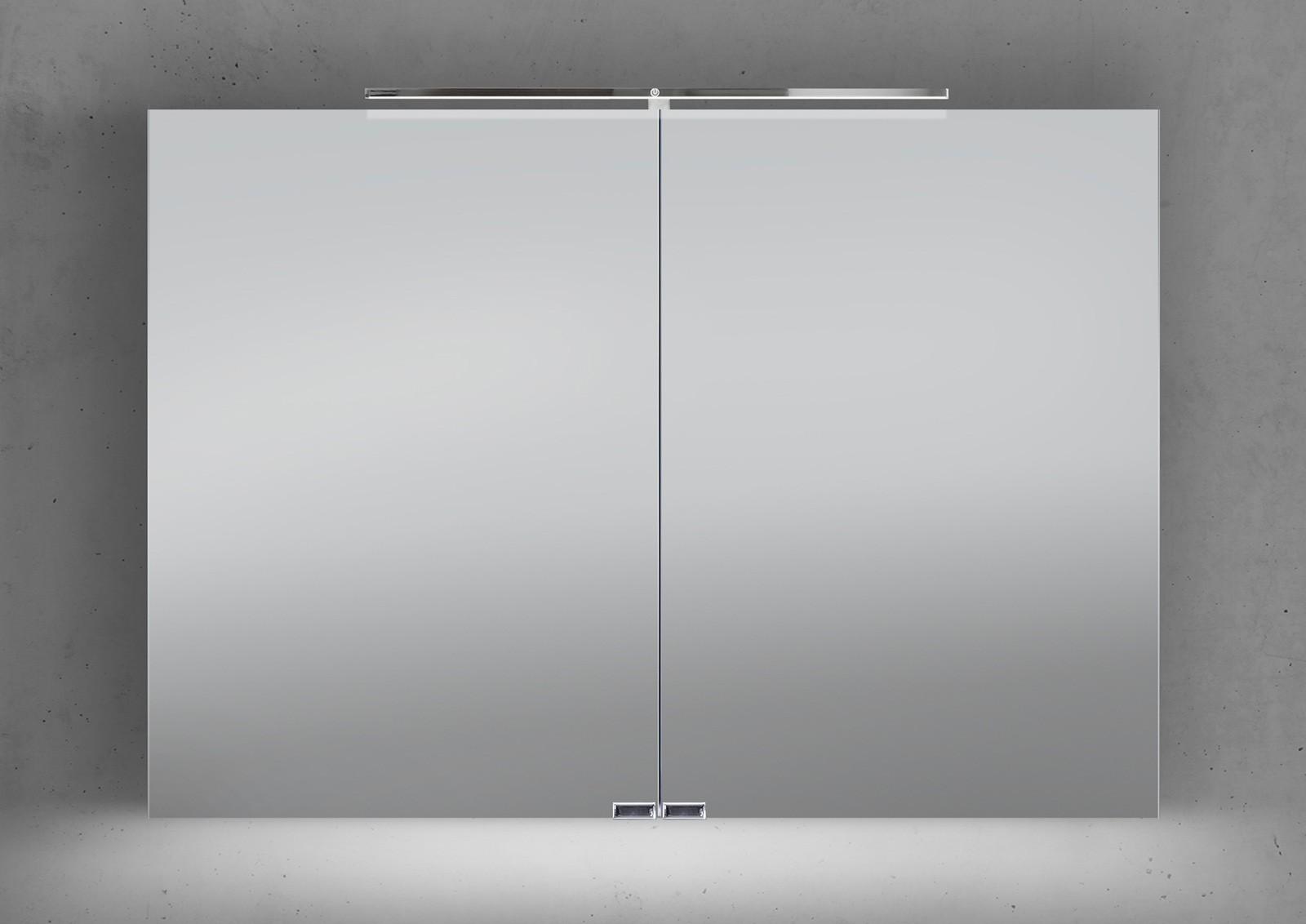 Spiegelschrank 100 cm led beleuchtung mit farbwechsel - Spiegelschrank bad 100 cm ...