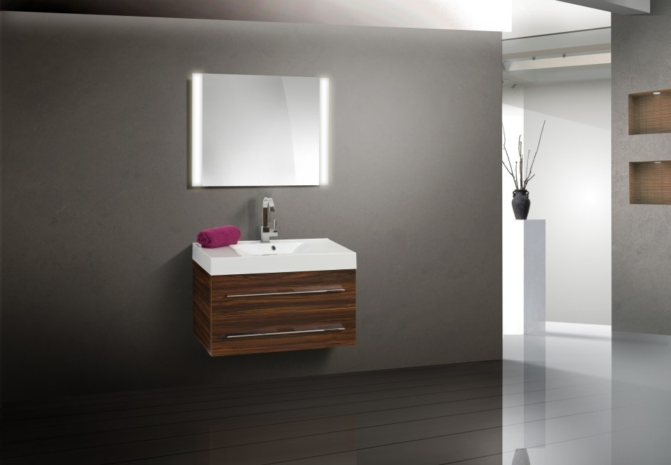 Design badm bel set waschtisch 90 cm lichtspiegel - Designer badmobel ...