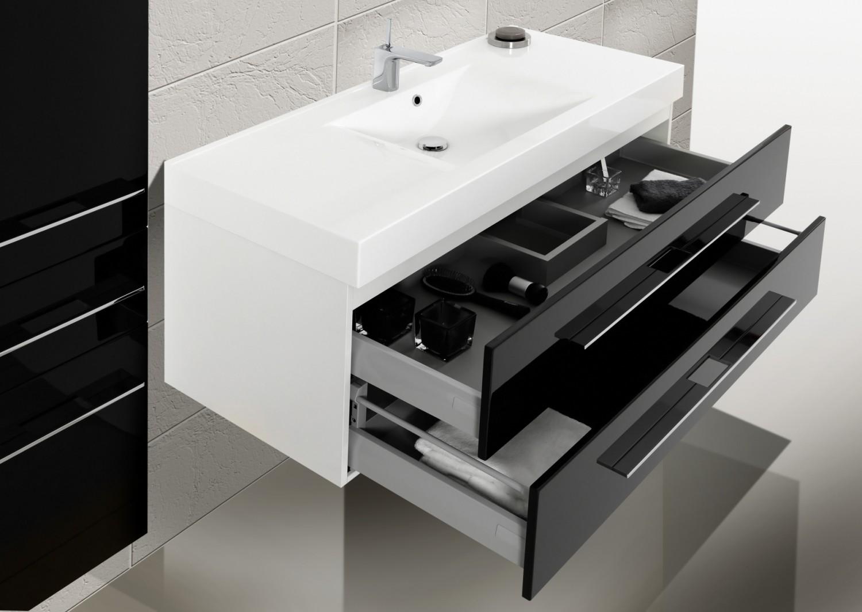 badm bel set mit waschbecken und waschtisch 120 cm 433. Black Bedroom Furniture Sets. Home Design Ideas