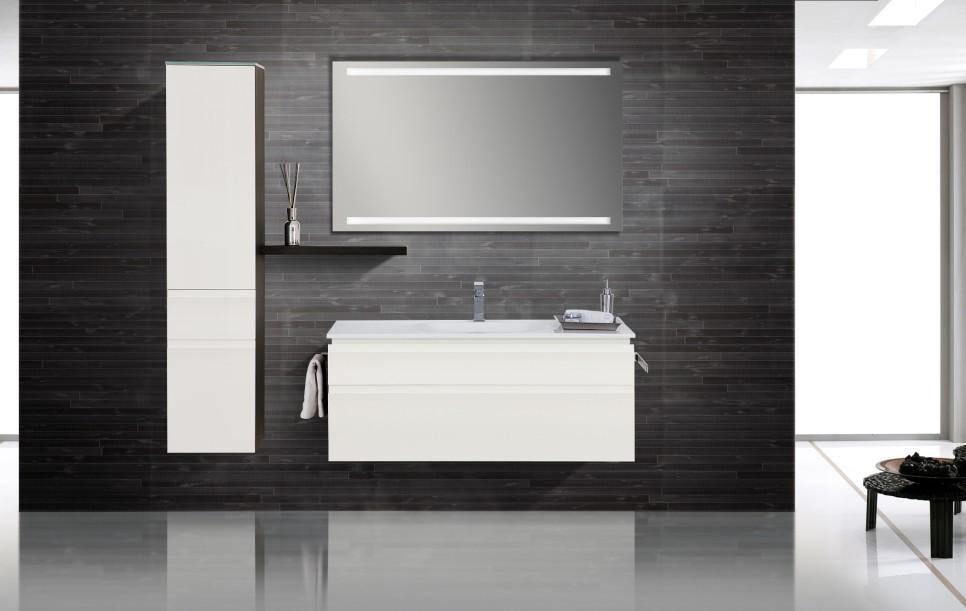 design badm bel set lichtspiegel waschbecken 120. Black Bedroom Furniture Sets. Home Design Ideas