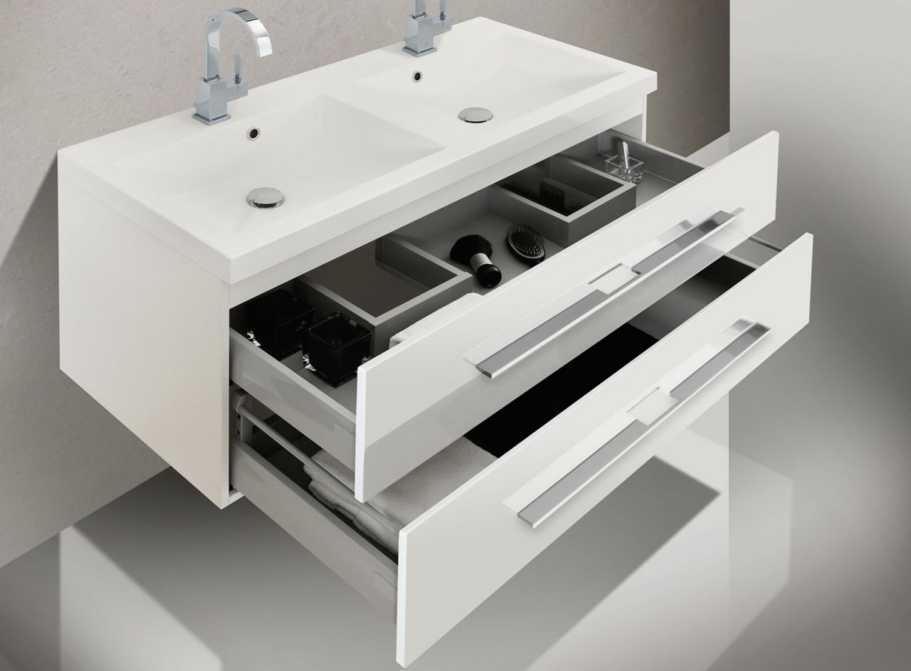 badm bel set mit doppelwaschtisch 120 cm und. Black Bedroom Furniture Sets. Home Design Ideas