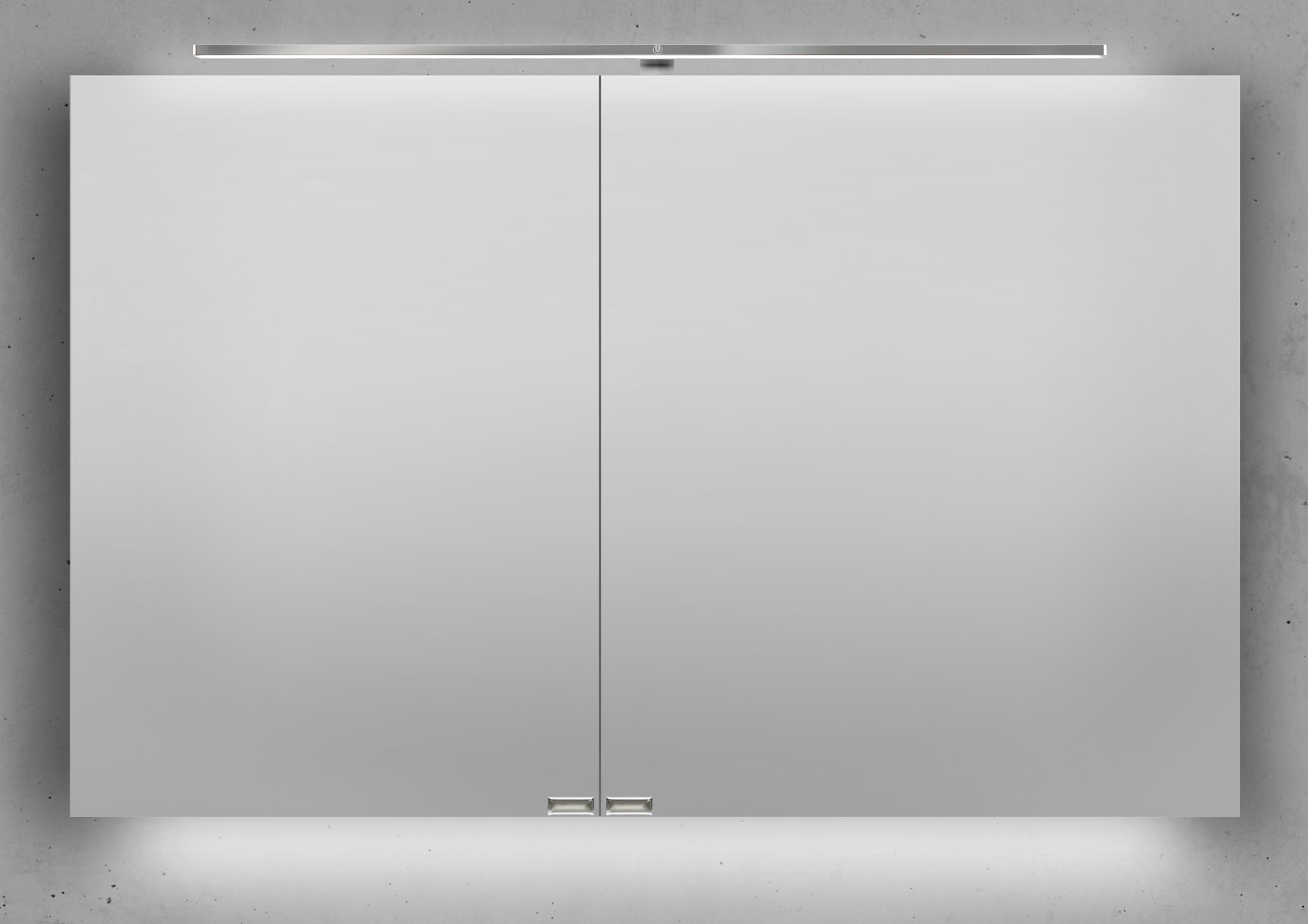 spiegelschrank 110 cm led beleuchtung mit farbwechsel doppelseitig verspiegelt. Black Bedroom Furniture Sets. Home Design Ideas