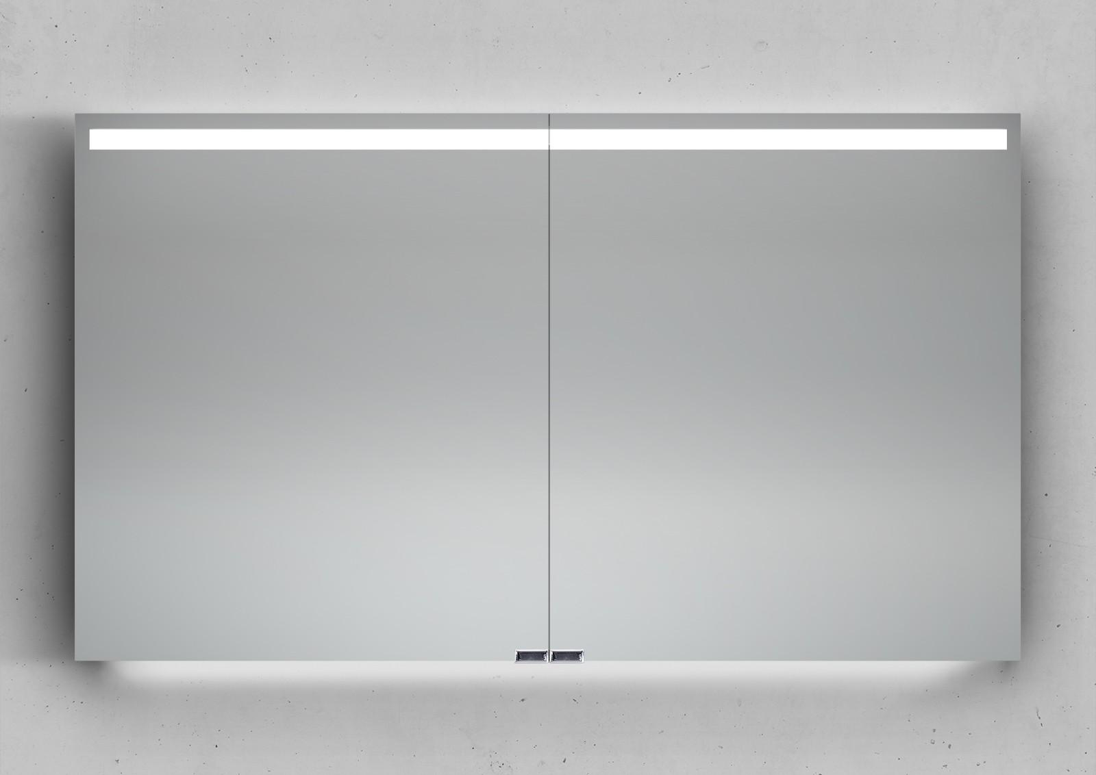 spiegelschrank 120 cm integrierte led beleuchtung doppelt. Black Bedroom Furniture Sets. Home Design Ideas
