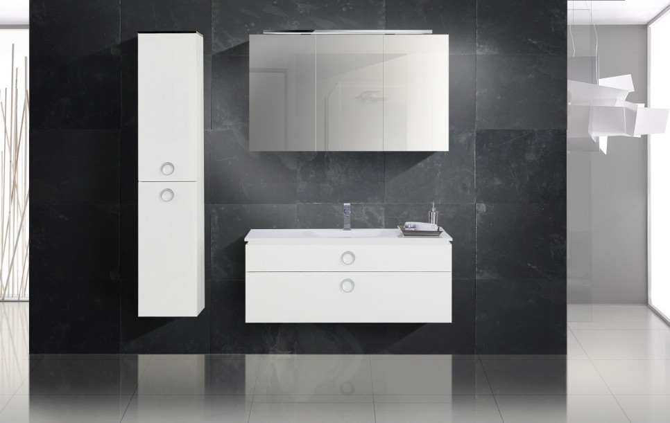 design badm bel set waschbecken spiegelschrank 120 cm. Black Bedroom Furniture Sets. Home Design Ideas