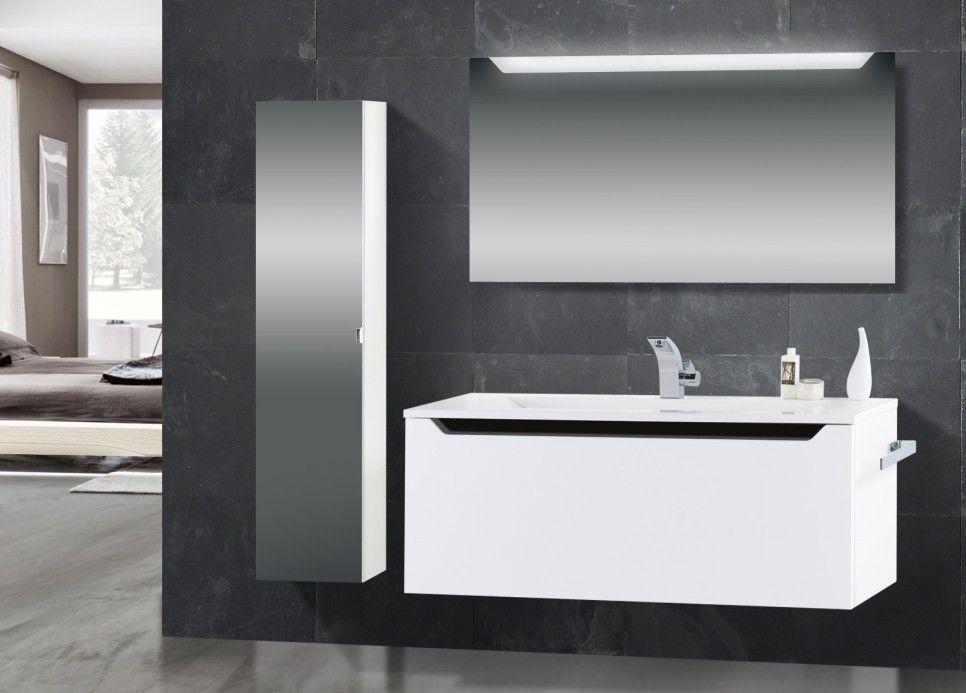 Badmöbel schwarz  Design Badmöbel Set Waschtisch 120 cm Schwarz Hochglanz ...