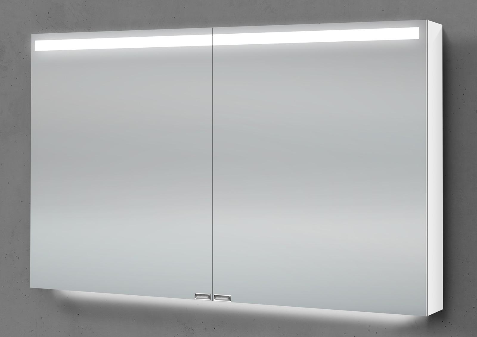 Spiegelschrank 90 cm integrierte led beleuchtung doppelseitig verspiegelt - Spiegelschrank 90 cm ...
