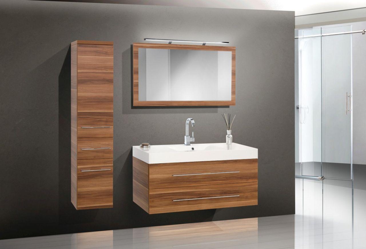 Design badm bel set waschtisch 120 cm lichtspiegel for Ebay badmobel set